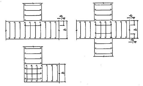 2.1-2  墙下条形基础纵横交叉处底板受力钢筋布置-8.2 扩展基础图片